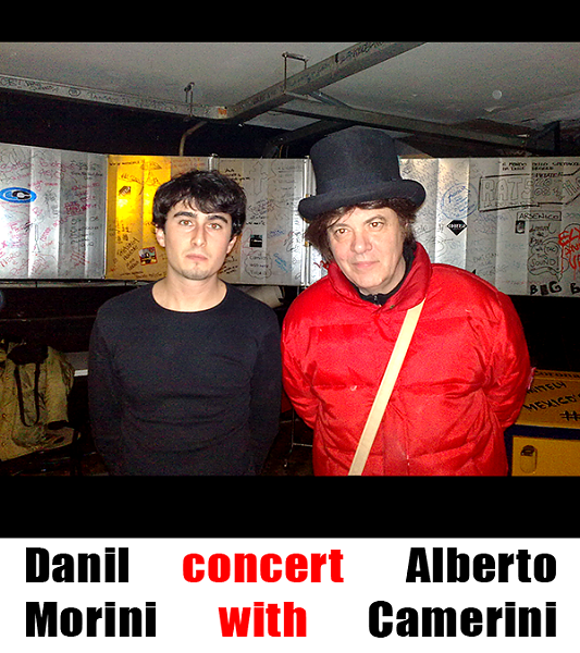 After concert with Alberto Camerini.